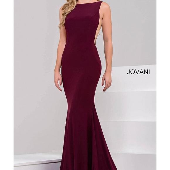 Jovani Dresses Prom Dress Maroon Color Poshmark